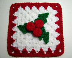 Holly Granny Square Pattern