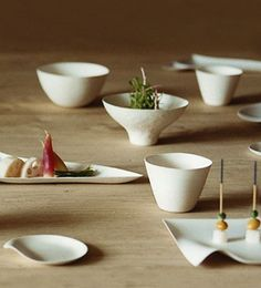 Wasara makes 14 dishes and vessels, including a sleek sushi plate that features a built-in soy sauce holder. Designed by Shinichiro Ogata of the interior design firm Simplicity, each piece has two distinct surfaces -- smooth on the top, and roughly textured on the bottom -- to invoke the feel of Japanese ceramics