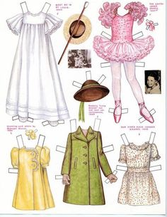 Margaret O'Brien paper doll (Meet Me in St. Louis, The Unfinished Dance, Our Vines Have Tender Grapes)
