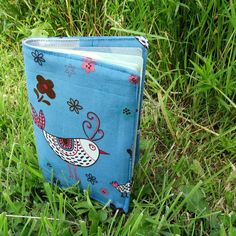 This is a handmade fabric passport cover. It measures x x This cover is made to fit a European Union or UK passport. The fabric used is a medium weight cotton with whimsical chicken design. Passport Cover, Pastel Blue, White Cotton, Whimsical, Coin Purse, Patches, Blue And White, Country, Fabric