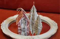 Wings of Whimsy: Vintage Christmas Village - DAY 3 ~ *Click on photo for free printable downloads and instructions