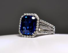 Mark Patterson Sapphire and Diamond engagement ring from the Promise Colletion.