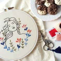 *english below* Um doce, um domingo e um bordado  {one sweet, on a Sunday with embroidery} #clubedobordado
