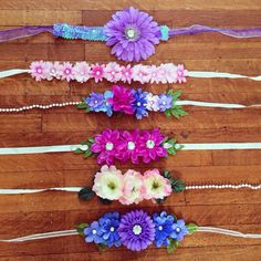 The pictured headbands are all available and I would love to help anyone with a custom order as well! I can make headbands of any kind and Rave Festival, Festival Wear, Festival Outfits, Flower Crown Headband, Flower Crowns, Rave Accessories, Rave Gear, Do It Yourself Fashion, Floral Headbands