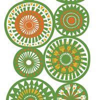 Marimekko Taikamylly Stoff Meterware grün