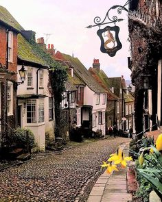 Tag a friend who loves cobbled streets and gorgeous English cottages! How bloomin' gorgeous is this street in Rye, East Sussex with those…