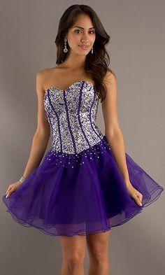 Short Sweetheart Corset Dress
