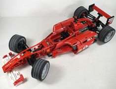 Lego Technic F1 Red Ferrari Racing Car (8386) - 1:10 Scale - 18 Long