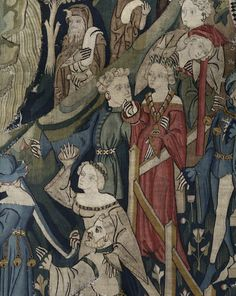 Madame de Pompadour (Courtiers playing games, medieval tapestry from...)