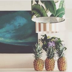Nest Emporium, palm fabric shade, pineapples