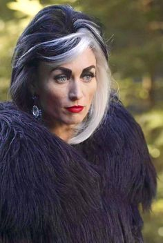 Cruella De Vil, portrayed by Victoria Smurfit on the show Once Upon a Time - she ROCKED it! My favorite character of season 4, she was chilling and I will miss her!