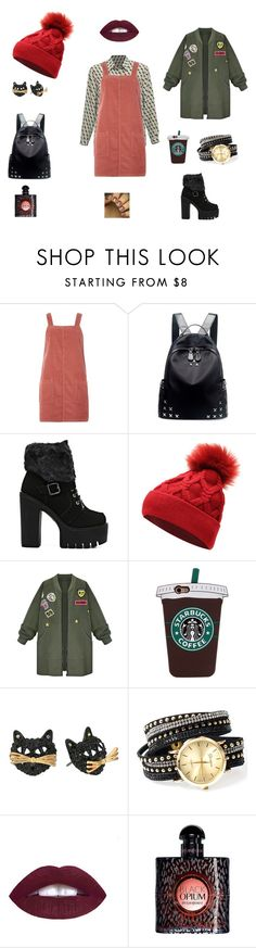 """""""student"""" by anastasiasinitsyna on Polyvore featuring мода, Dorothy Perkins, Chicnova Fashion, WithChic, Betsey Johnson и Yves Saint Laurent"""