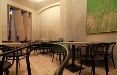 Red Pif Restaurant and Wine Shop by Aulík Fišer Architekti.