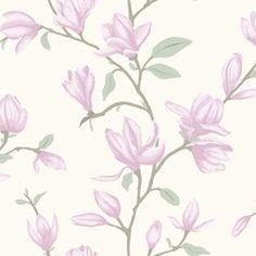 Vacker magnolia från kollektionen Manor House 347049. Klicka för att se fler inspirerande tapeter för ditt hem!