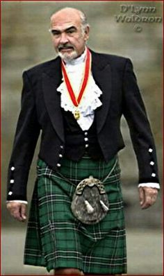 Sean Connery...is it the man or is it the kilt? Either way,I love this photo!