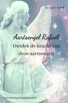 Aartsengel Rafaël is de engel van heling. Hij staat bekend om zijn helende en krachtige energie. Je kunt hier alles over deze aartsengel lezen! #aartsengelrafaël #aartsengelen #engelen #healing #energie #spiritualiteit Homemade Books, Oracle Cards, Greek Gods, Reiki, Chakra, Tarot, Affirmations, Meditation, Prayers