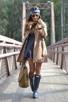 Love Hunter Boots! 10 Cool Ways To Wear Your Old Rubber Rain Boots This Spring | StyleCaster #hunter_boots #fashion