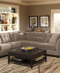 Elliot Fabric Sectional Sofa Collection - Couches & Sofas - furniture - Macy's