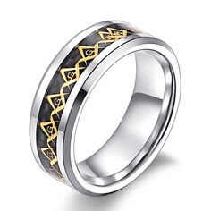 8MM Celtic Knot Tungsten Carbide Wedding Engagement Ring Band - Tungsten Rings