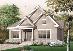 AFFORDABLE COUNTRY BUNGALOW  Large kitchen island, closed foyer, cathedral ceiling in the living room, 3 bedrooms   http://www.drummondhouseplans.com/house-plan-detail/info/keystone-american-1002092.html