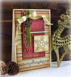 Joyeux Noel by Julee Tilman for Verve Stamps   poeticartistry.blogspot.com   #vervestamps #cardmaking