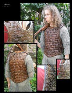 Leather Viking armor by ~mind-traveler on deviantART weave armor Sca Armor, Viking Armor, Medieval Armor, Medieval Fantasy, Larp, Armadura Medieval, Vikings, Arte Viking, Viking Costume