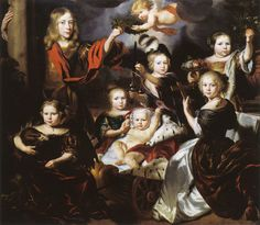 Nicolaes Maes - Group Portrait as Mirror of Virtue