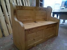4-Stunning-Rustic-Plank-Style-Monks-Bench-Settle-With-Storage-MADE-TO-ANY-SIZE