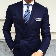 3 Must Have Colors For A Double Breasted Suit