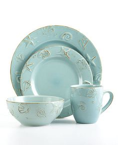 Thomson Pottery Cape Cod 16-Piece Set - Casual Dinnerware - Dining & Entertaining - Macy's
