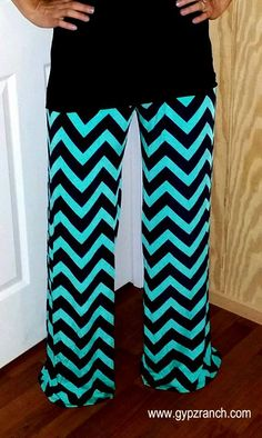One & Only Love - Chevron Palazzo Pants - Plus Size