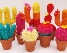suculentas cactus crochet - Buscar con Google