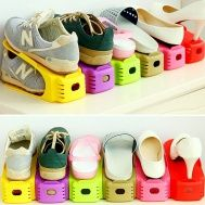 Buy 8 Colors 2018 Home & Living Integral Adjustable Storage Rack Thickened Simple Plastic Double Shoe Rack Innovative Space-Saving Storage Home Decor Tool at Wish - Shopping Made Fun Shoe Storage Holder, Shoe Rack Holder, Shoe Storage Small, Shoe Hanger, Shoe Rack Organization, Space Saving Storage, Storage Shelves, Cabinet Storage, Small Closet Space
