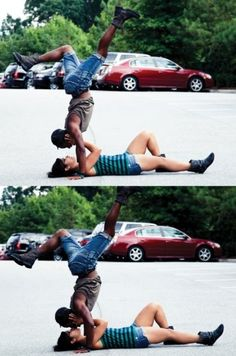 Kiss in Break Dance
