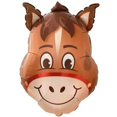 This fun balloon is shaped like the brown smiling face of a hilarious horse, perfect for your farm or horse themed birthday party. This balloon is made out of quality foil. It balloon arrives flat; Horse Theme Birthday Party, Farm Themed Party, Cowgirl Birthday, Farm Birthday, Farm Party, 2nd Birthday Parties, Birthday Ideas, Horse Balloons, Foil Balloons