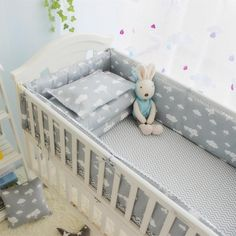 Hot Sale Baby Bedding Set For Boy Organizer For Baby Bed Cotton Newborn Bed Bumpers+Sheet+Pillow Cover +Quilt Cove Baby Boys, Baby Boy Cribs, Baby Cot Bedding Sets, Linen Bedding, Bed Linen, Newborn Bed, Baby Girl Newborn, Cot Bumper Sets, Bed Bumpers