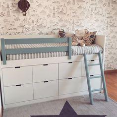 Kids Bedroom Designs, Play Spaces, Kid Beds, Dream Bedroom, Baby Room, Kids Room, Ikea, New Homes, Room Decor