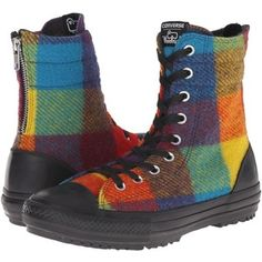 Converse Chuck Taylor All Star Hi-Rise Woolrich Boot X-Hi (Yellow Bird/Cyan Space/Black) Women's Classic Shoes