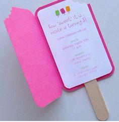 I love this card invitation idea