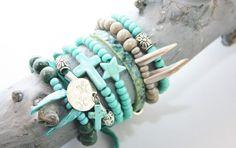 Bohemian lifestyle Ownmade by Marijke♡.....Ibiza style turquoise set