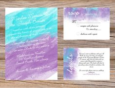 Rustic Brown and Teal Bohemian Wedding Invitation | Stationary ...