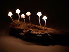 """nLED Mushroom Lights LED Mushroom Lights, dubbed """"The Great Mushrooming"""", is designed by Japanese designer Yukio Takano."""