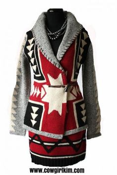 Cowgirl Fashion :: Jackets and Blazers :: COWGIRL KIM EXCLUSIVE! ROJA RED & GRAY 4 CORNERS SWEATER JACKET! - Native American Jewelry|Ladies ...http://www.cowgirlkim.com/cowgirl-fashion/jackets-and-blazers/cowgirl-kim-exclusive-roja-red-and-gray-4-corners-sweater-jacket.html