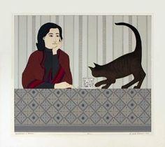 La méditation et Minou - (Will Barnet)