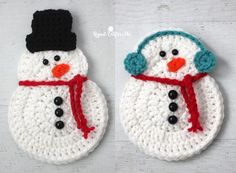 Crochet Snowman - Repeat Crafter Me