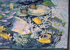 Unusual quilt - Ocean Indoors