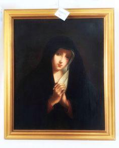Virgen Dolorosa. Óleo italiano fines del S.XVIII