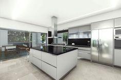 #modern #american #kitchen #design #black #white #spacious #villa #spain #property #sale #luxury