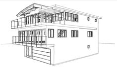 To capitalize on the beachside investment of a 1960's, 2-story home, a Lake Sherwood physician plans to add a 3rd Floor Master Suite & view Terrace.  A new, internal, modern stair, multiple bi-fold window walls, a ground level exercise space & glass wind-screened patio, and an enlarged kitchen-living space will be configured, in addition to the translucent, curved, Kalwall Skyroof Master Living space.