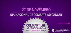 Capa da campanha 10 dicas contra o Câncer desenvolvida para a Fundação do Câncer - Lançada no dia 27 de novembro , Dia Nacional de Combate ao Câncer